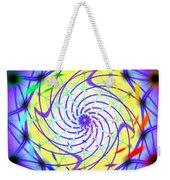 Spiral Light Hexagon Weekender Tote Bag