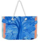 Spiral Tree Winter Blue Weekender Tote Bag