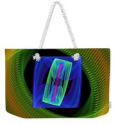 Spiral Vortex Green And Blue Fractal Flame Weekender Tote Bag