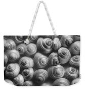 Spirals Black And White Weekender Tote Bag by Priska Wettstein