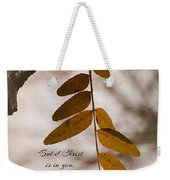 Spirit Is Life Weekender Tote Bag