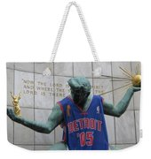 Spirit Of Detroit Piston Weekender Tote Bag