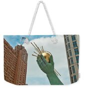 Spirit Of Detroit's Left Hand Weekender Tote Bag