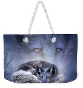 Spirit Of The Blue Fox Weekender Tote Bag