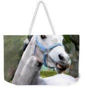 Spirited Grey Horse Weekender Tote Bag