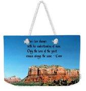 Spiritual Laws Weekender Tote Bag