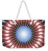 Spiritual Pulsar Kaleidoscope Weekender Tote Bag by Derek Gedney