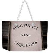 Spiritueux Vins Liqueurs Weekender Tote Bag