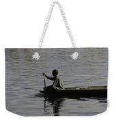 Splashing In The Water Caused Due To Kashmiri Man Rowing A Small Boat Weekender Tote Bag