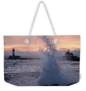 Splashy Sunrise Weekender Tote Bag