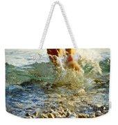 Splish Splash Weekender Tote Bag by Heiko Koehrer-Wagner