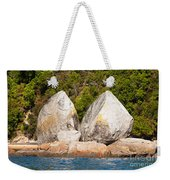 Split Apple Rock Near Abel Tasman Np In New Zealand Weekender Tote Bag
