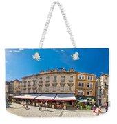 Split Historic Square Panoramic View Weekender Tote Bag