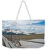 Split Rail Fence Near Alpine Visitor's Center In Rocky Mountain Np-co Weekender Tote Bag