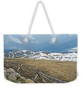Split Rail Fence On East Side Of Trail Ridge Road In Rocky Mountain National Park-colorado Weekender Tote Bag