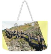 Split Rail Fence Yellow Weekender Tote Bag by Barbara Snyder