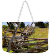 Split Rail Weekender Tote Bag