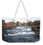 Spokane Falls In Winter Weekender Tote Bag
