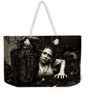 Zombie Lady Sepia Weekender Tote Bag