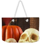 Spooky Halloween Skulls Weekender Tote Bag by Edward Fielding