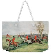 Sporting Scene, 19th Century Weekender Tote Bag