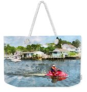 Sports - Man On Jet Ski Weekender Tote Bag