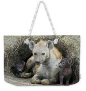 Spotted Hyena Mother And Pups Weekender Tote Bag