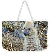 Spotted Hyena Pup In Kruger National Park-south Africa  Weekender Tote Bag
