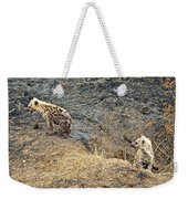 Spotted Hyena Pups In Kruger National Park-south Africa Weekender Tote Bag