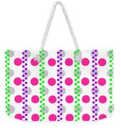 Spotty Stripe Weekender Tote Bag