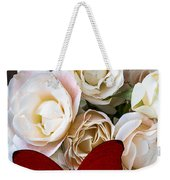 Spray Roses And Red Butterfly Weekender Tote Bag