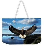 Spread Eagle  Mississippi River Weekender Tote Bag