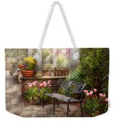 Spring - Bench - A Place To Retire  Weekender Tote Bag by Mike Savad