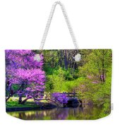 Spring Blossoms On Lake Marmo Weekender Tote Bag