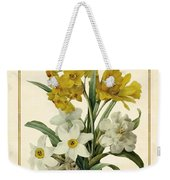 Spring Bouquet Of Daffodils And Narcissus With Butterfly Vertical Weekender Tote Bag