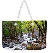 Spring Cascade Of Water From Bridal Veil Falls In Yosemite Np-2013 Weekender Tote Bag
