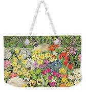 Spring Cats Weekender Tote Bag by Hilary Jones