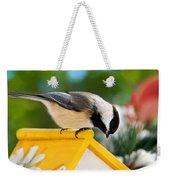 Spring Chickadee Weekender Tote Bag