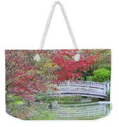 Spring Color Over Japanese Garden Bridge Weekender Tote Bag