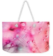 Spring - Dandelion With Water Droplets Abstract Weekender Tote Bag