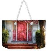 Spring - Door - Westfield Nj - Pink Weekender Tote Bag by Mike Savad