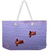 Spring Ducks Weekender Tote Bag