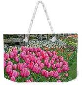 Spring Fence Landscape Art Prints Weekender Tote Bag