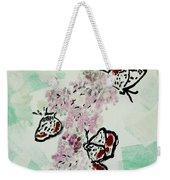 Spring Flutter Weekender Tote Bag