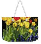 Spring Garden Sunshine Square Weekender Tote Bag
