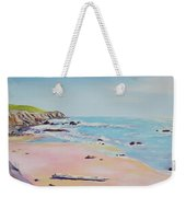 Spring Hills And Seashore At Bowling Ball Beach Weekender Tote Bag