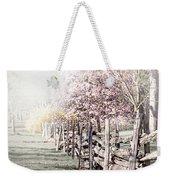 Spring Landscape With Fence Weekender Tote Bag