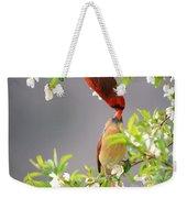 Cardinal Spring Love Weekender Tote Bag