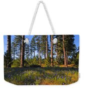 Spring Lupines In The Forest Weekender Tote Bag
