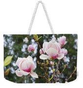 Spring Magnolia Tree Flowers Pink White Weekender Tote Bag